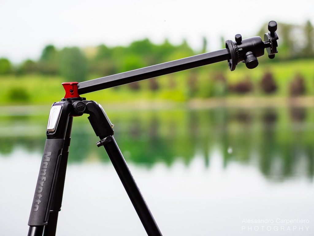 Manfrotto 055 XPROB has a tiltable coloumn, which allowes you to take shots with very crazy angles.