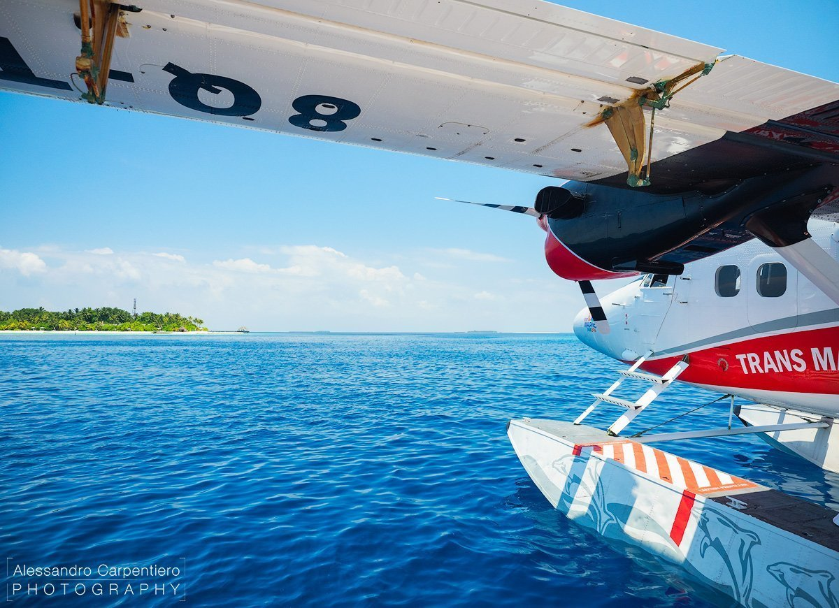 seaplane in the ocean