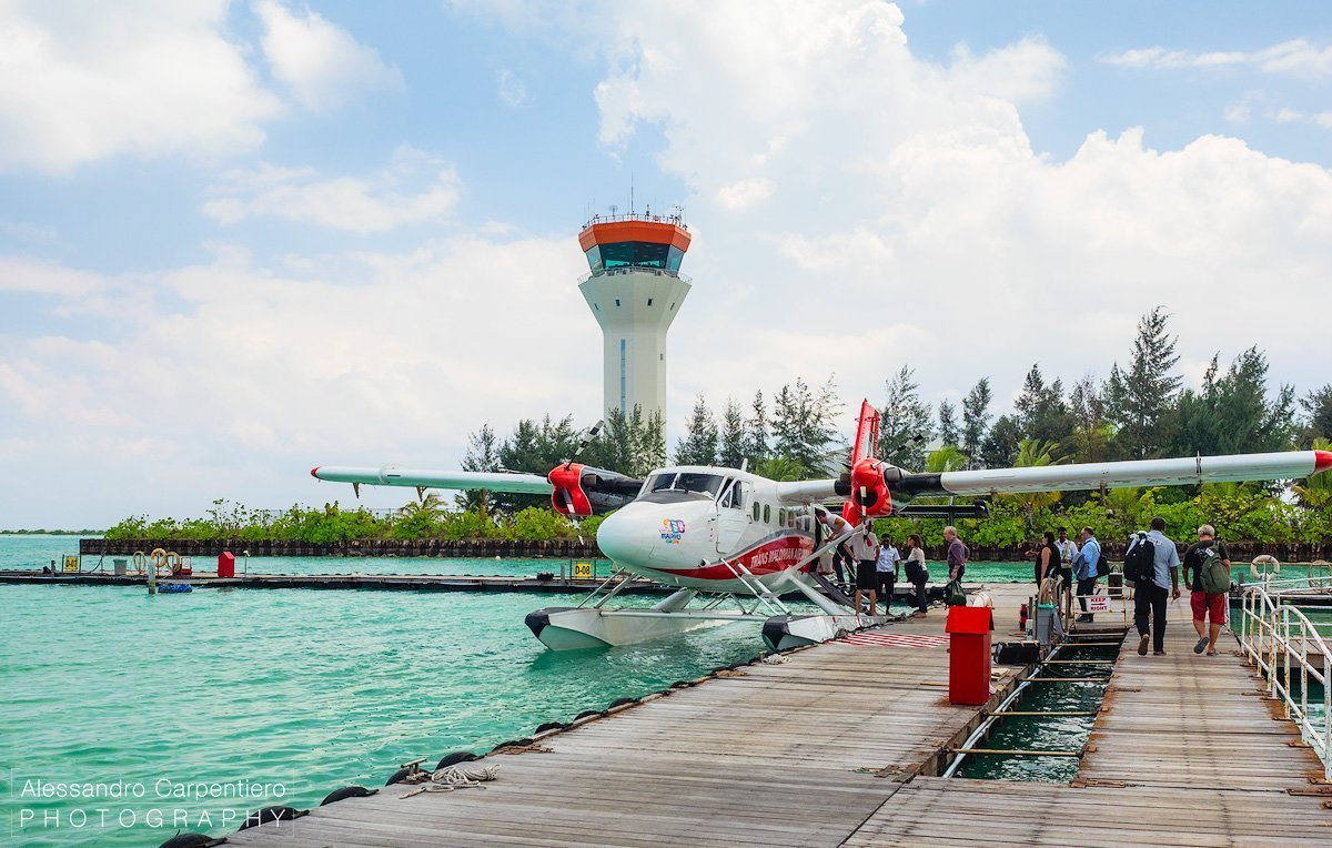 seaplane transfer in maldives