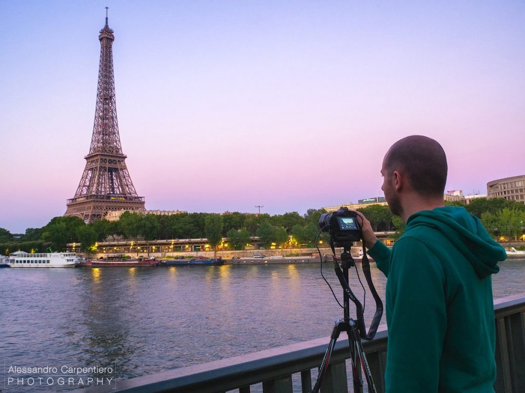 Myself at work in the magical Paris