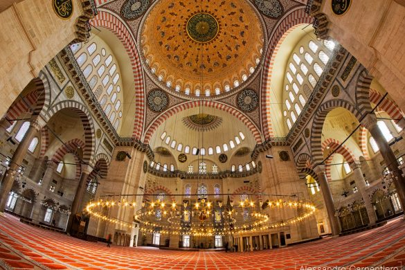 Istanbul Pictures Suleymaniye Camii is one of the most beautiful Mosques in Istanbul. Its simmetry and colors makes it a perfect example of muslim architecture