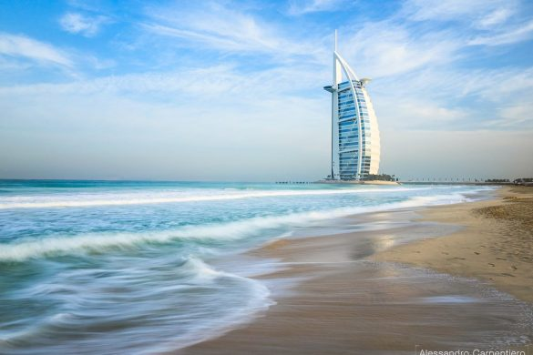 7-stars hotel at sunrise: Burj Al Arab