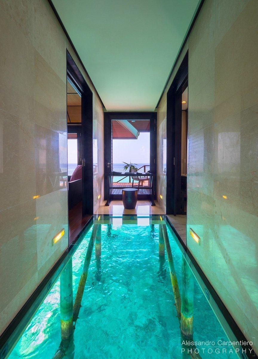 ingresso della Deluxe Water Villa a lily beach maldive